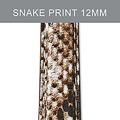 12mm Snake Print Leather Strap