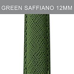 12mm Dark Green Saffiano Leather Strap