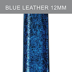 12mm Peacock Blue Leather Strap