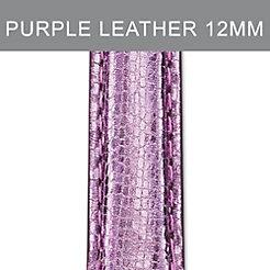 12mm Light Purple Leather Strap