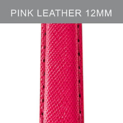 12 mm Bright Pink Leather Strap