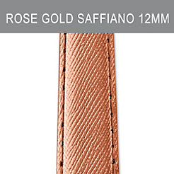 12mm Rose Gold Saffiano Strap