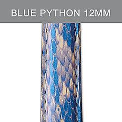 12mm Shimmer Blue Python Strap