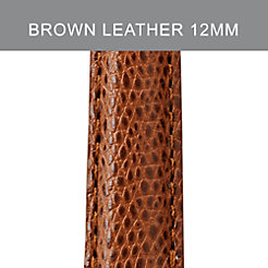 12mm Chestnut Leather Strap