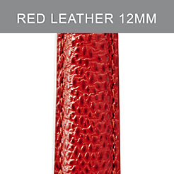 12mm Red Leather Strap
