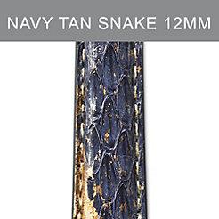 12mm Navy Tan Strap