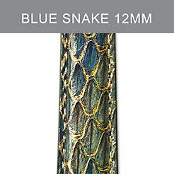 12mm Peacock Blue Strap