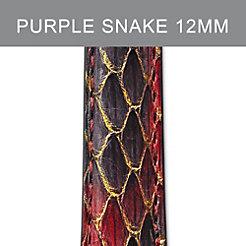 12mm Purple Peacock Strap