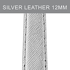 12mm Metallic Chrome Leather Strap