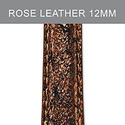 12mm Dark Rose Metallic Strap