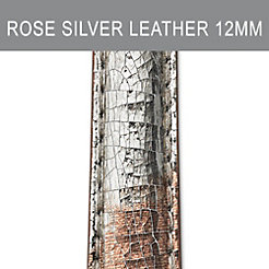 12mm Rose Silver Strap