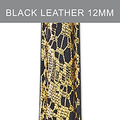 12mm Black Lace Fashion Leather Strap