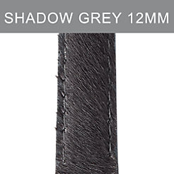 12mm Shadow Grey Pony Hair Strap