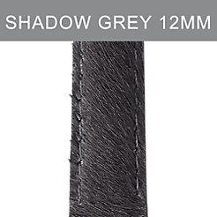 12mm Shadow Grey Pony Hair Strap