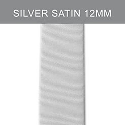 12mm Silver Satin Tech Strap