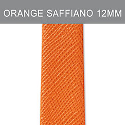 12mm Burnt Orange Thin Saffiano Strap