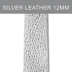 12mm Silver Bark Thin Leather Strap