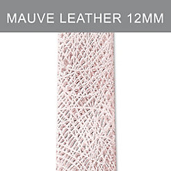 12mm Pale Mauve Thin Bark Leather Strap