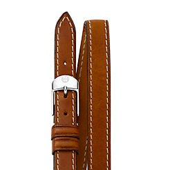 12mm Saddle Calf Skin Double Wrap Strap