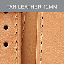 12mm Tan Leather Strap