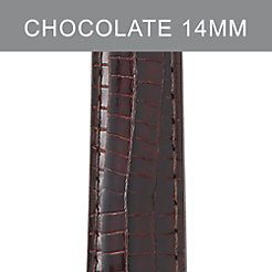 14mm Chocolate Lizard Strap