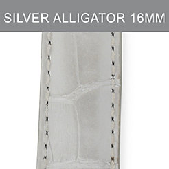 16mm Silver Alligator Strap