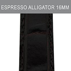 16mm Espresso Alligator Strap