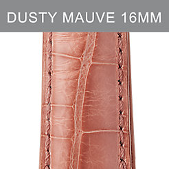 16mm Dusty Mauve Alligator Strap