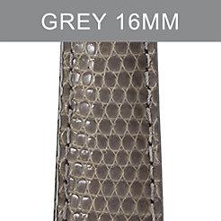 16mm Grey Lizard Strap