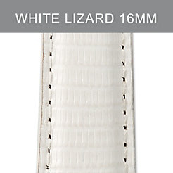 16mm Bright White Lizard Strap