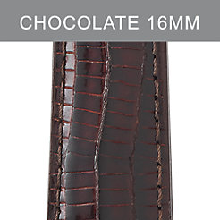 16mm Chocolate Lizard Strap