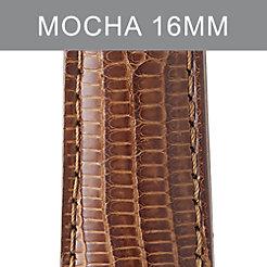 16mm Mocha Lizard Strap