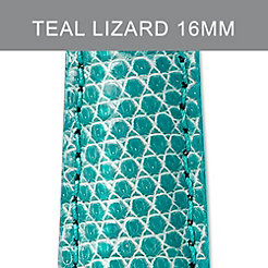 16mm Teal Green Lizard Strap