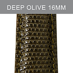 16mm Deep Olive Lizard Strap