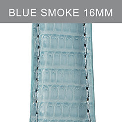 16mm Blue Smoke Lizard Strap