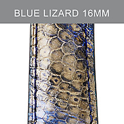16mm Twilight Blue Lizard Strap