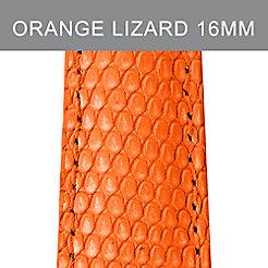 16mm Orange Lizard Strap