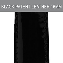 16mm Black Patent Leather Strap