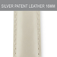 16mm Silver Patent Leather Strap