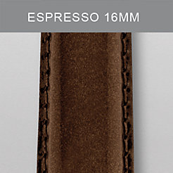 16mm Espresso Patent Leather Strap