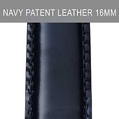 16mm Navy Patent Leather Strap
