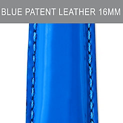 16mm Pacific Blue Patent Leather Strap