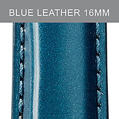 16mm Bright Blue Patent Leather Strap