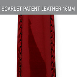 16mm Scarlet Patent Leather Strap