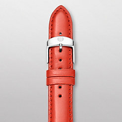 16mm Bright Orange Patent Leather Strap