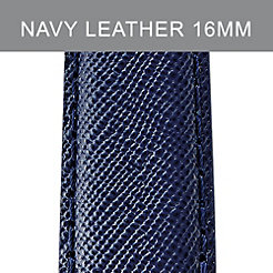 16 mm Navy Leather Strap