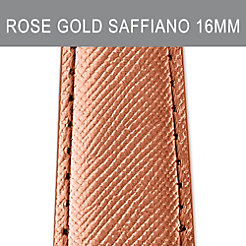 16mm Rose Gold Saffiano Strap