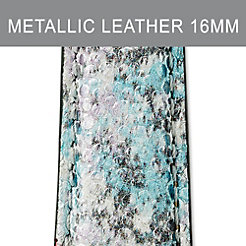 16mm Metallic Multi Leather Strap