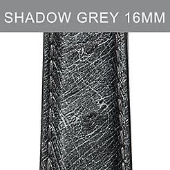 16mm Shadow Grey Ostrich Strap