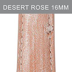 16mm Desert Rose Ostrich Strap